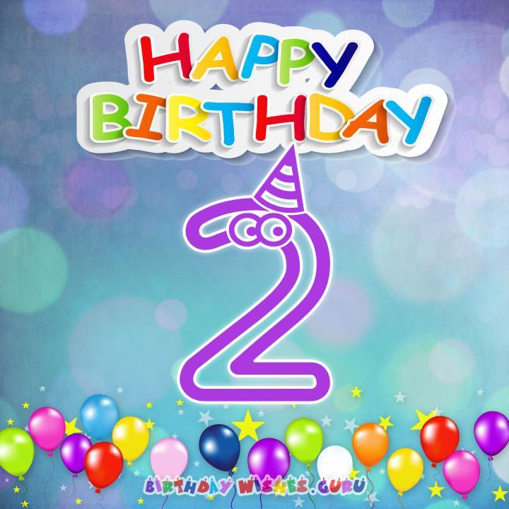 Happy 2nd Birthday Wishes For Baby Girl Or Boy Birthday Wishes Guru