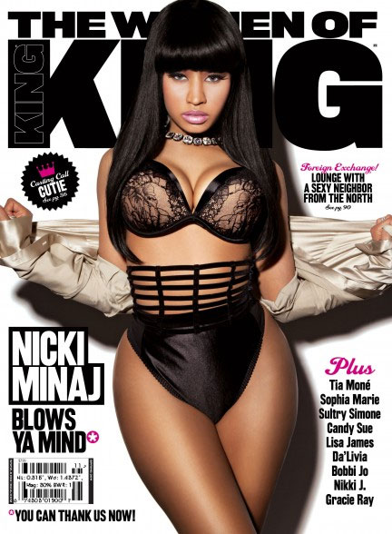 King Magazine Cover We still find Nicki Minaj a fascinating figure (no
