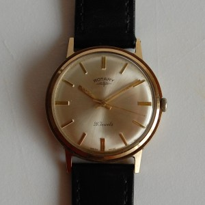 1965 Rotary 21J 9ct gold watch
