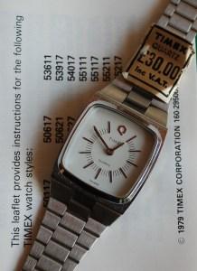 1979 Timex 'Big Q' Quartz ladies watch