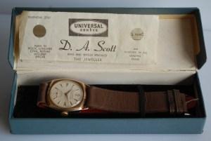 1959 or 1965 DA Scott 9ct gold watch