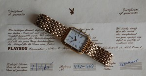 1982 Playboy men's quartz watch