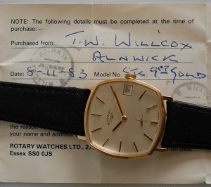 1983 Rotary 9ct manual wind watch