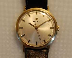 1968 Tissot men's 14k gold watch