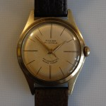 A mechanical Swiss birth year watch from 1960