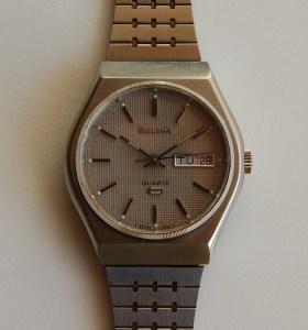 1978 Bulova men's quartz watch with bracelet
