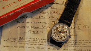 1939 Ingersoll Triumph men's watch with box and papers