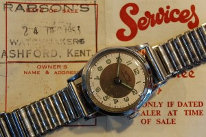 1953 Services Competitor men's watch, with box and papers