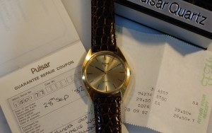 1981 1982 Pulsar men's watch with box and papers