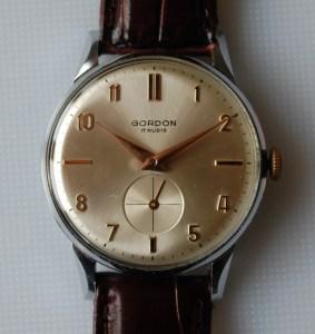 c1960 Gordon men's sub second watch