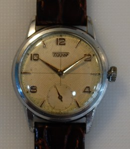 1956 Tissot watch with sub seconds