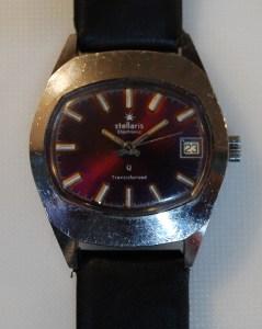 c1975 Stellaris Transistorized watch - Purple dial