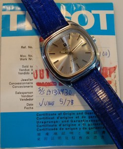 1978 Tissot Autolub with box and papers