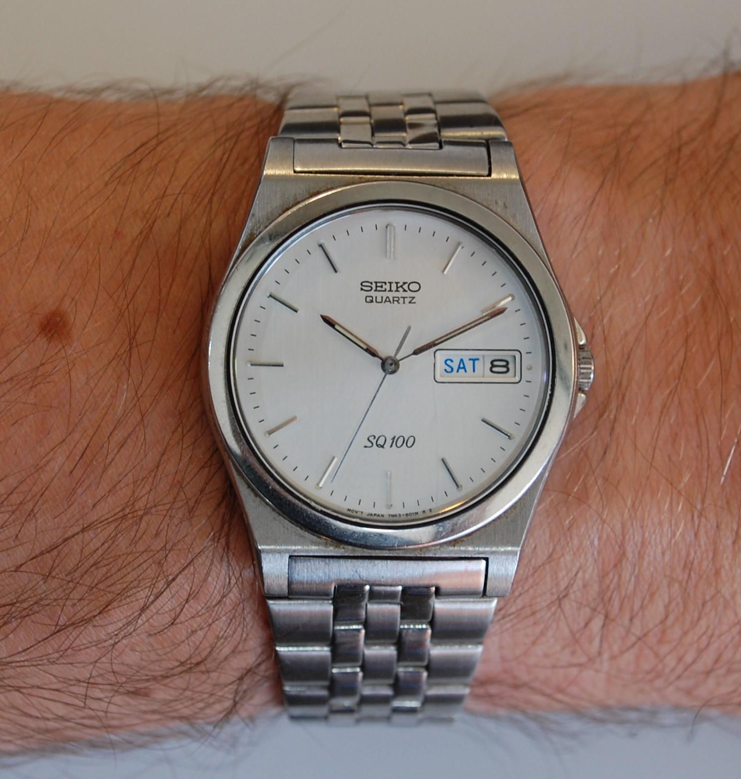 seiko quartz mens watch