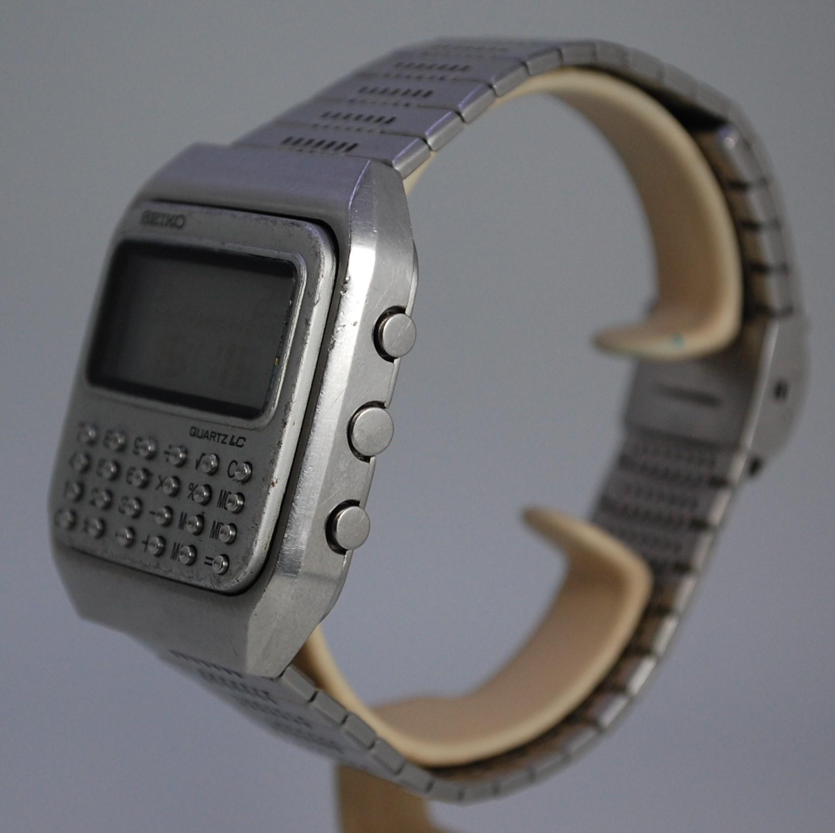 seiko digital calculator watch