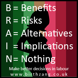 BRAIN – An informed decision-making tool for labour