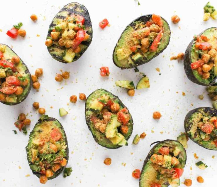 Grilled Curry Stuffed Avocados