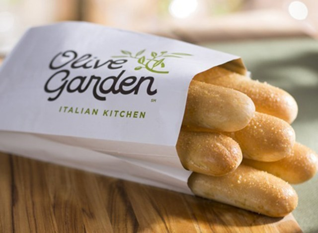 Grissini in the Olive Garden