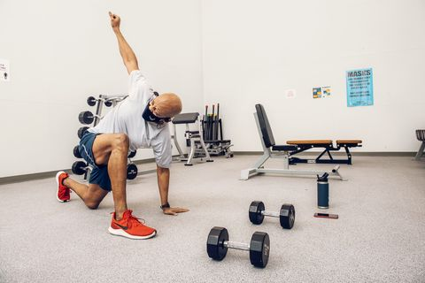 air force chief general charles q brown jr enjoys circuit training and often relies on moves like spiderman dropouts