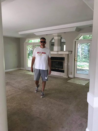 Mark Slaughter tours a house with his wife (Image credit: Mark Slaughter)