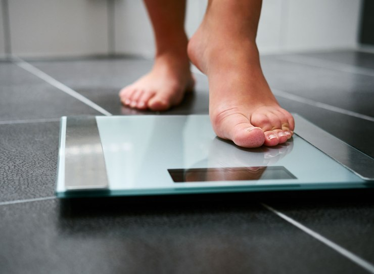 Weight loss on the scales