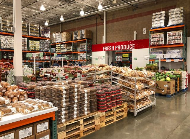 Shelves and selections at Costco Bakery
