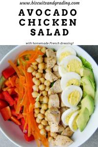 avocado chicken salad with homemade french dressing #salad #avocado #healthyeating #fresheating #healthy #foodblog #yum