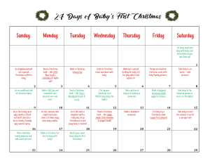 24 days of baby's first christmas