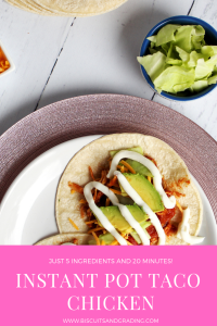 Instant Pot Taco Chicken #instantpot #pressurecooker #quickrecipe #easyrecipe #tacos #yum #foodblog