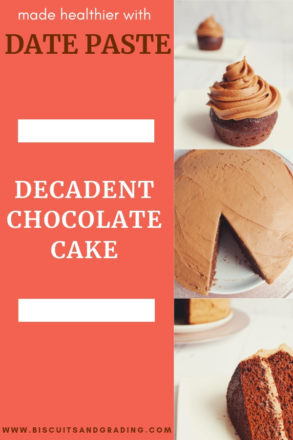 decadent chocolate cake date paste