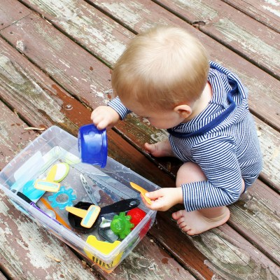 Simple Water Sensory Bin for Toddlers