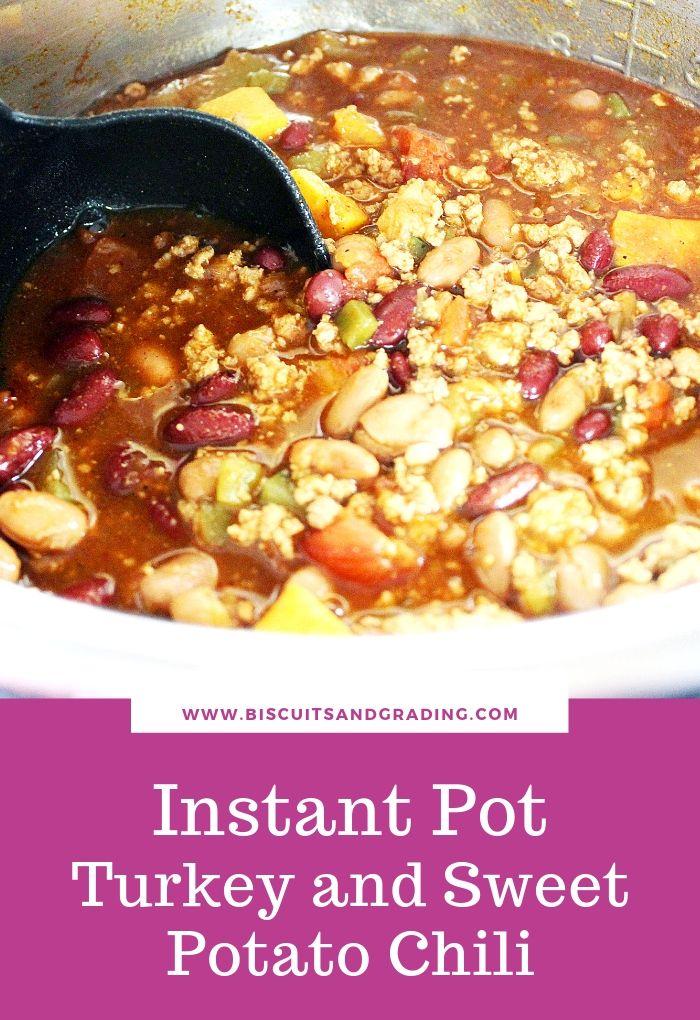 instant pot turkey and sweet potato chili pinterest