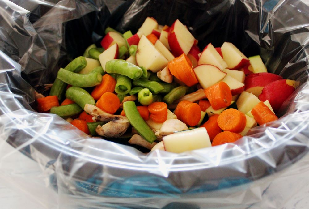 veggies in slow cooker for summer beef stew