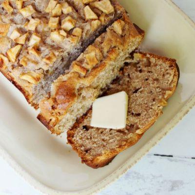 Apple Cinnamon Cream Cheese Quick Bread
