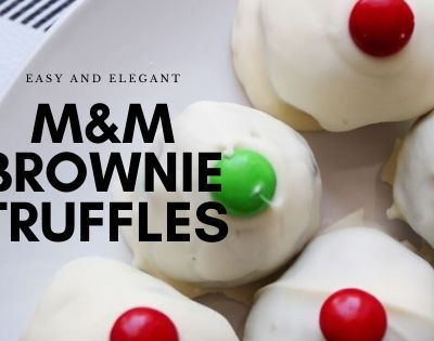 M&M Brownie Truffles