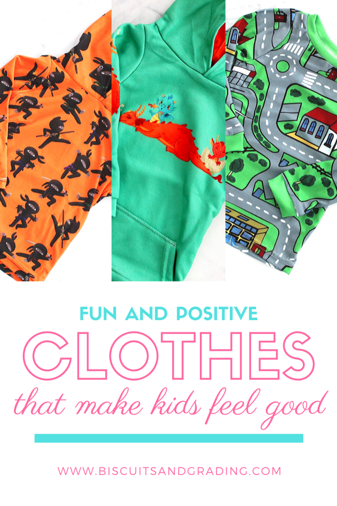 fun and positive kids clothes