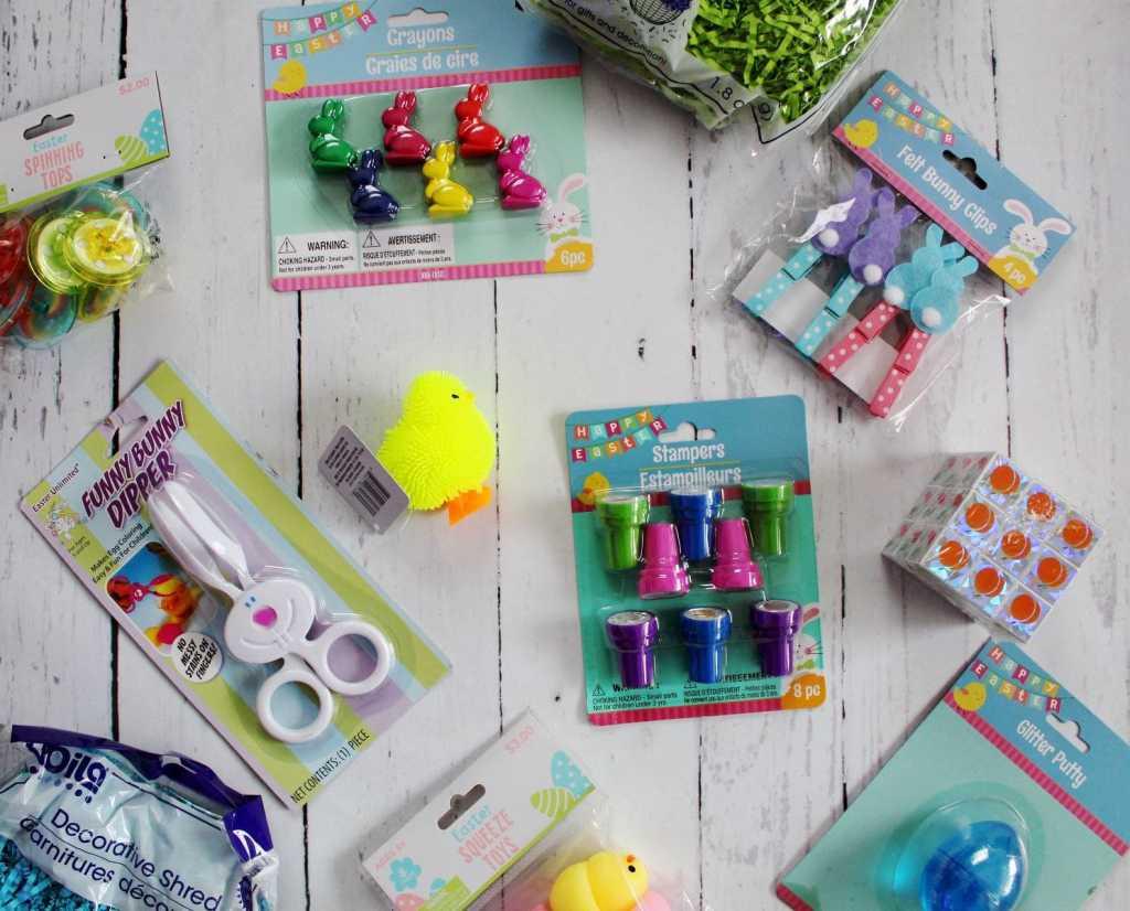 supplies for making easter sensory bin