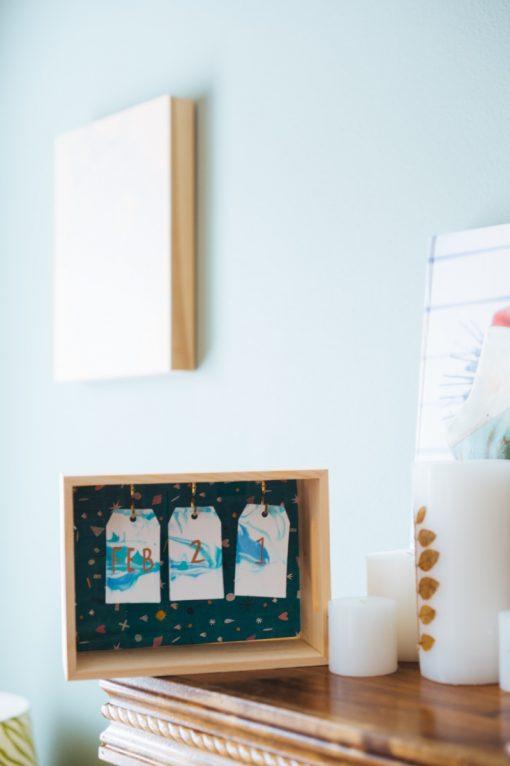 wooden diy box calendar