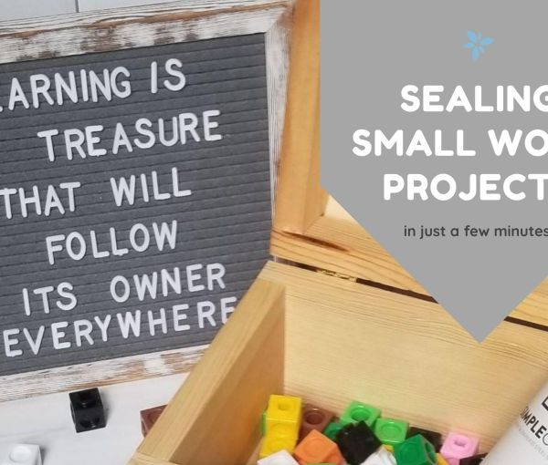 The Easiest Way to Seal Small Wood Projects