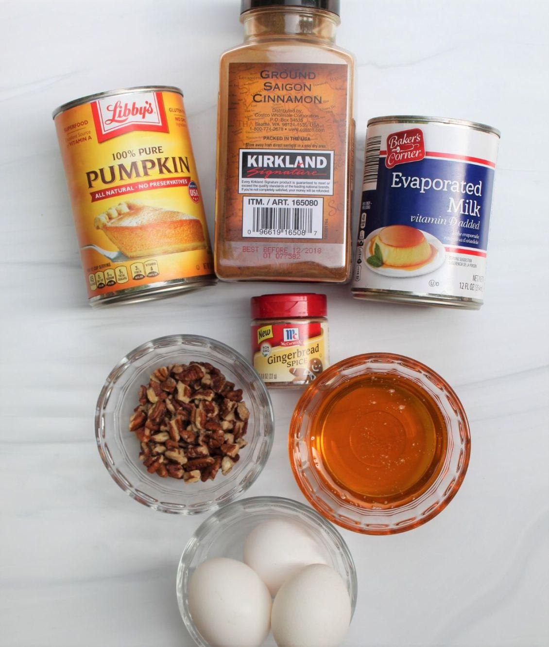 healthy crustless pumpkin pie ingredients 1