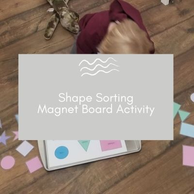 Shape Sorting Magnet Board - Free Printable!