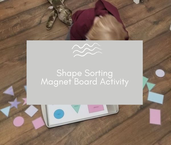 Shape Sorting Magnet Board – Free Printable!