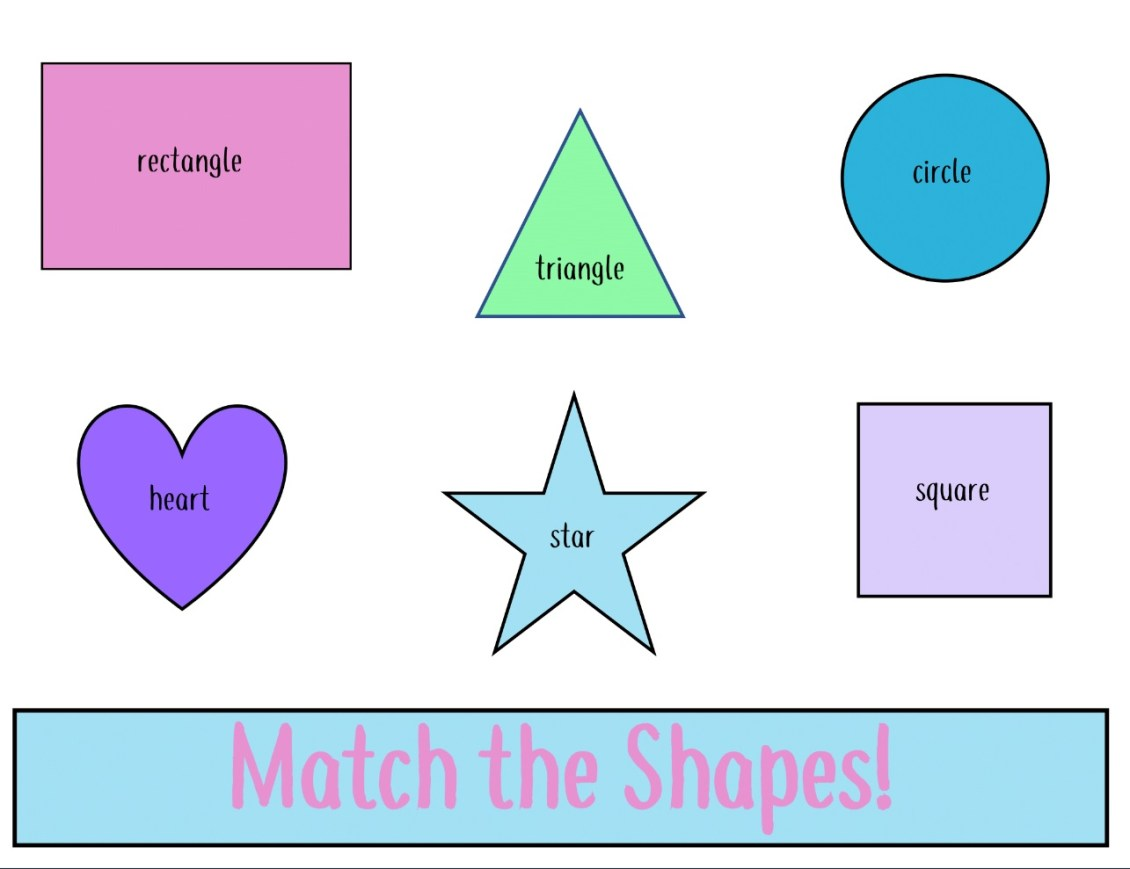 shape sorting activity preview main page