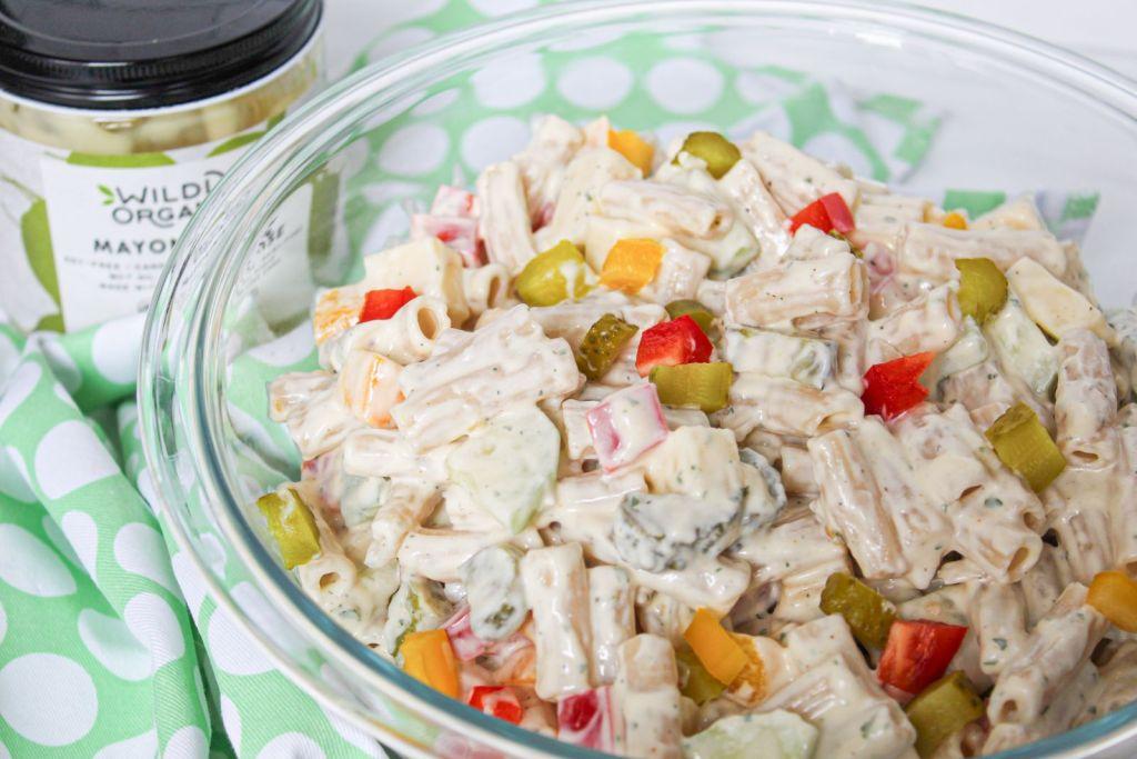 Creamy Ranch Pasta Salad with mayonnaise 1600