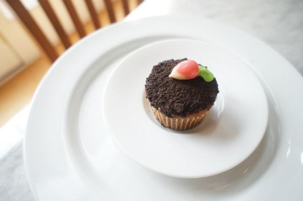 finished radish cupcake