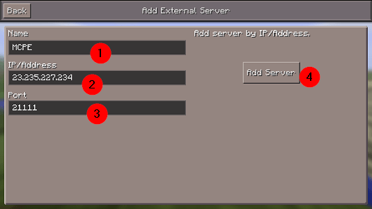 I Find Server Address Minecraft Pe Can Where