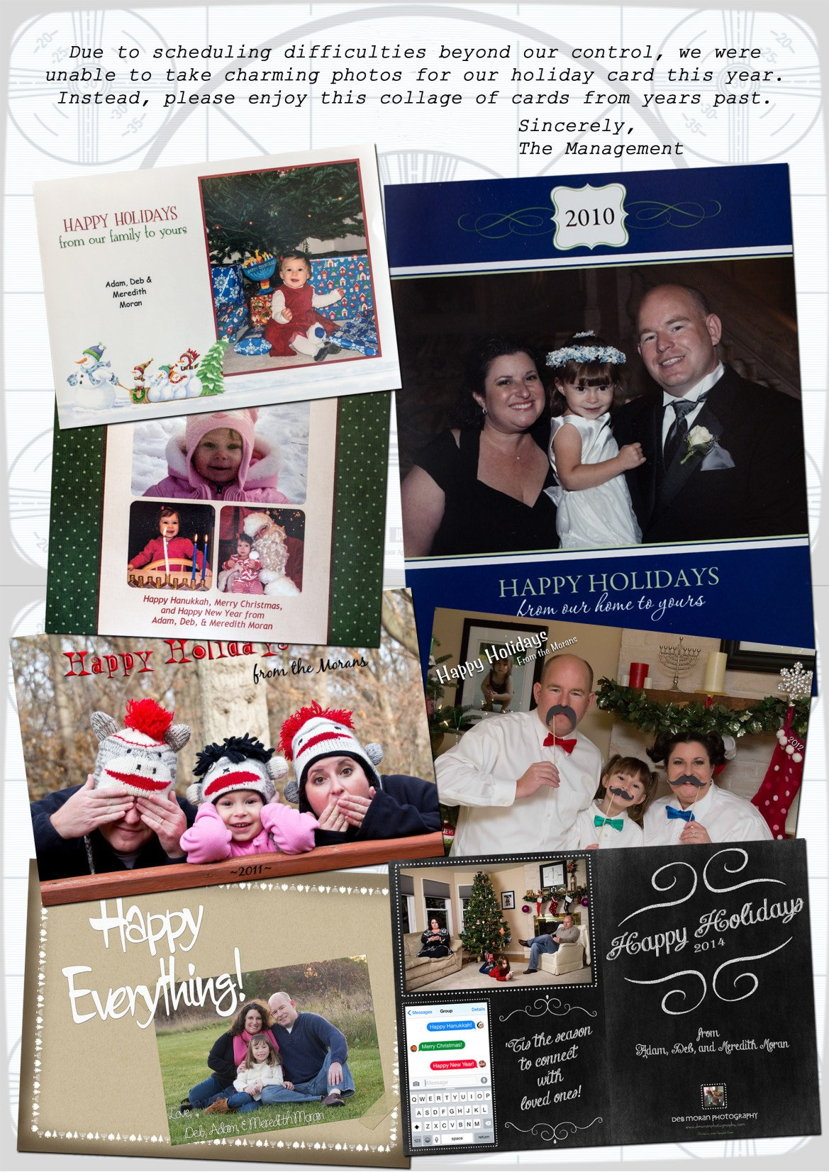 The inside of our holiday card for 2015