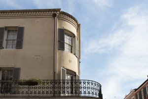 Typical corner building with a balcony in the French Quarter. It look so abandoned and serene on a Sunday morning.