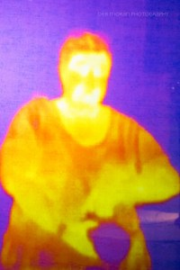 Hey - that's me in infrared! Playing with science is fun.