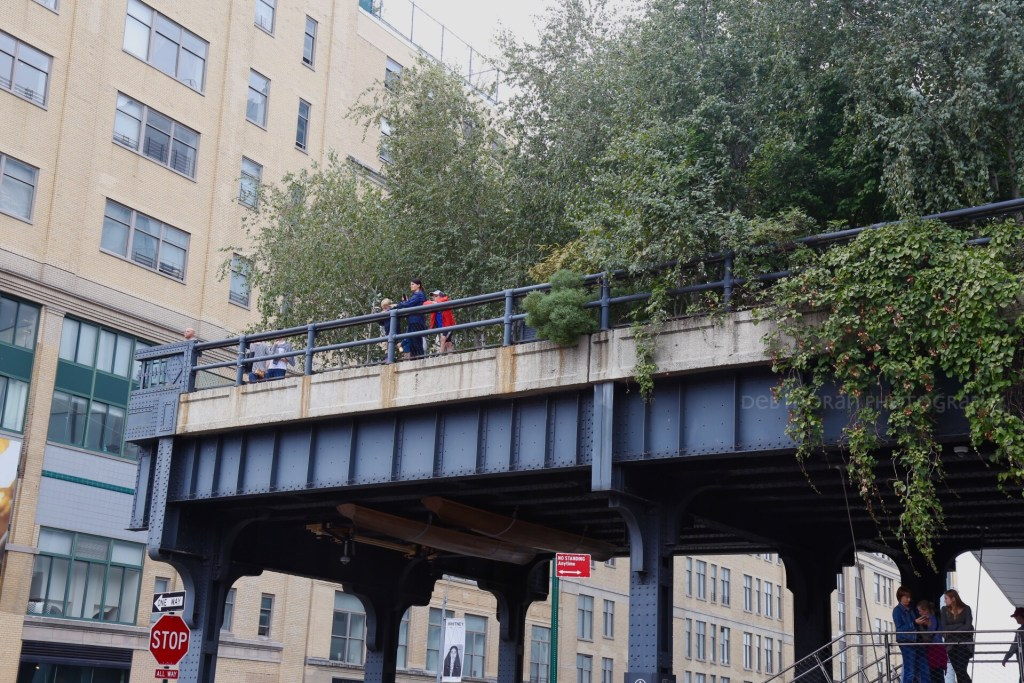 Looking up at the start of the High Line.